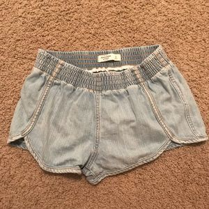 Light wash Abercrombie & Fitch jean shorts